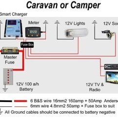 Wiring Diagrams For Trailers 7 Wire Shark Dissection Guide Diagram Caravan & Camper Battery Charging @ Exploroz Articles
