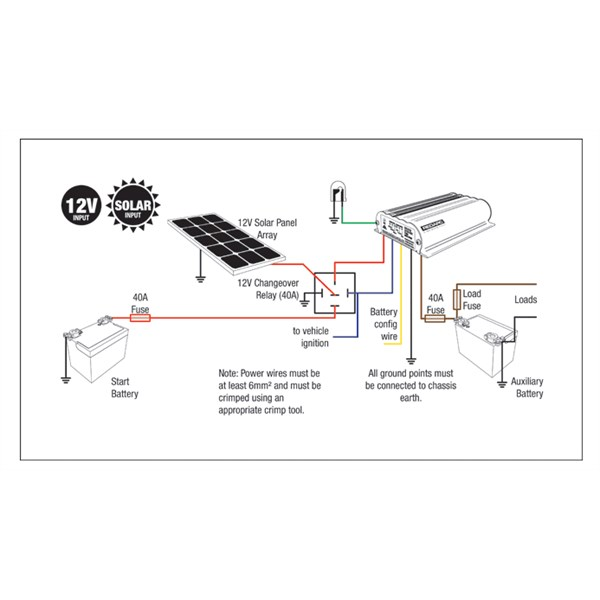 redarc bcdc1220 wiring diagram david brown 990 vivresaville how to connect solar a bcdc