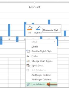 Right click the  axis in chart and select format from clicking menu also how to move below negative values zero bottom excel rh extendoffice