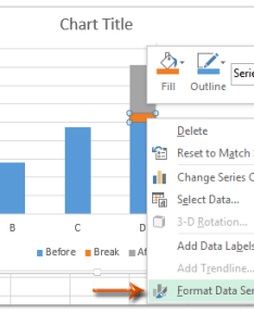 In the new chart right click break series red one and select format data from clicking menu also how to axis excel rh extendoffice