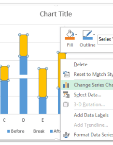 Now get back to the chart right click new added series and select change type from clicking menu also how break axis in excel rh extendoffice