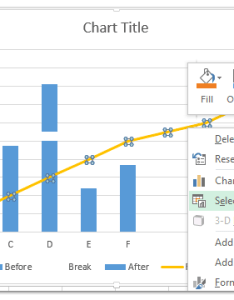 right click the new series once again and select data from clicking menu also how to break chart axis in excel rh extendoffice