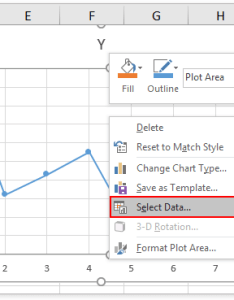 Right click the scatter chart and select data in context menu see screenshot also how to switch between   axis rh extendoffice