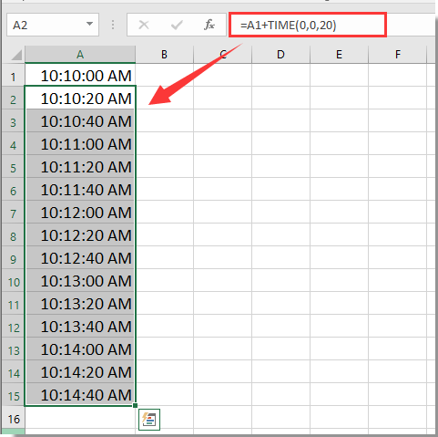 how to add time