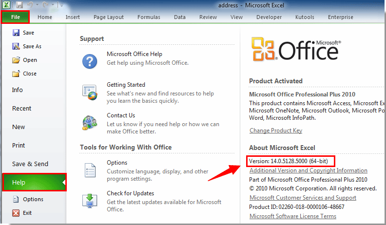 How To Find The Version Of Excel You Are Using Now