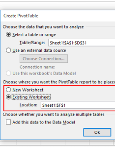 In the create pivottable dialog box specify destination range to place pivot table and click ok button see screenshot also how filter date an excel rh extendoffice