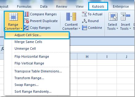 Làm thế nào để vuông nhiều ô trong Excel?