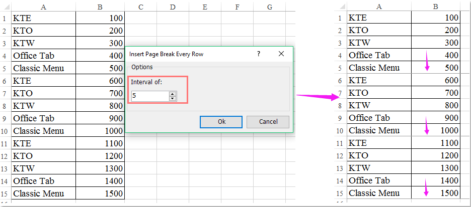 How to sum every n rows down in Excel?
