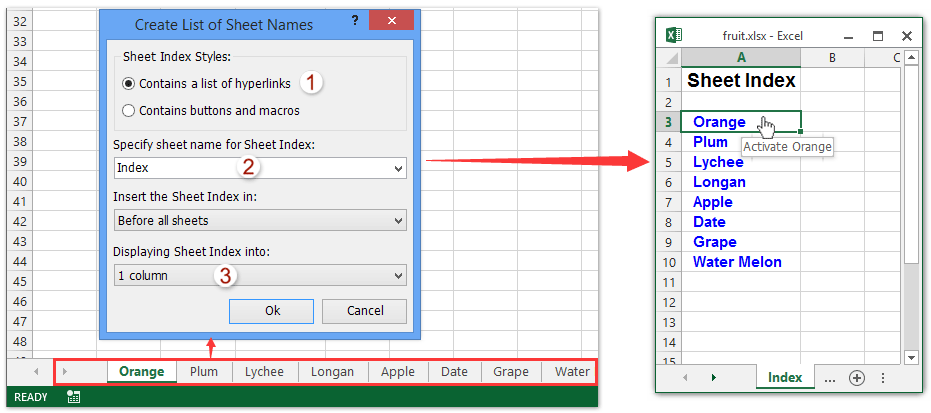 How To Create Hyperlink In A Cell To Another Sheet In The
