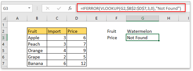 LOOKUP to return default value if not found match value in Excel