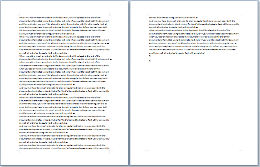 Quickly remove all blank lines in Word