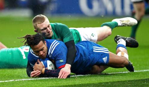 Image result for teddy thomas try v ireland