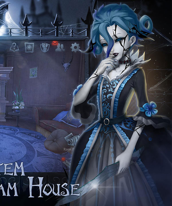 Identity V Bloody Queen Mary Lady in the Mirror Halloween Cosplay Costume