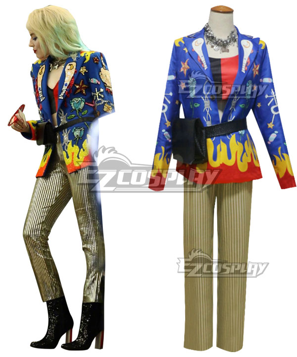 DC Birds of Prey Harley Quinn Suit Uniform Cosplay Costume
