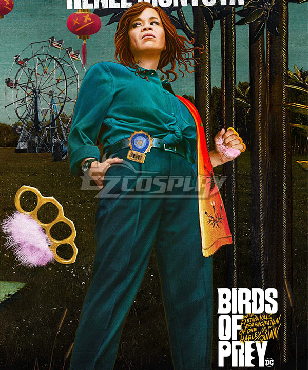 DC Birds of Prey Renee Montoya Cosplay Costume