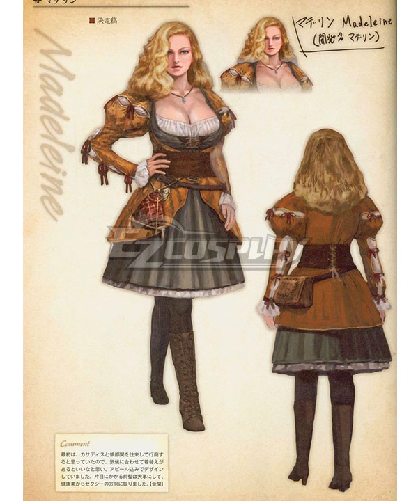 Dragon's Dogma Madeleine Cosplay Costume