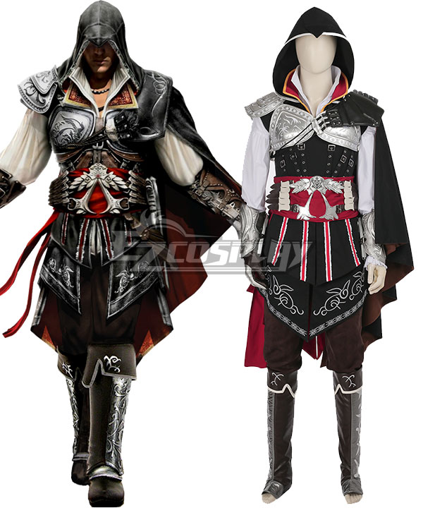 Assassin's Creed 2 Zio Auditore Da Firenze Black Cosplay Costume