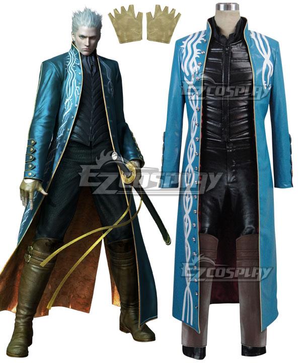 DmC Devil May Cry 3 Vergil Cosplay Costume