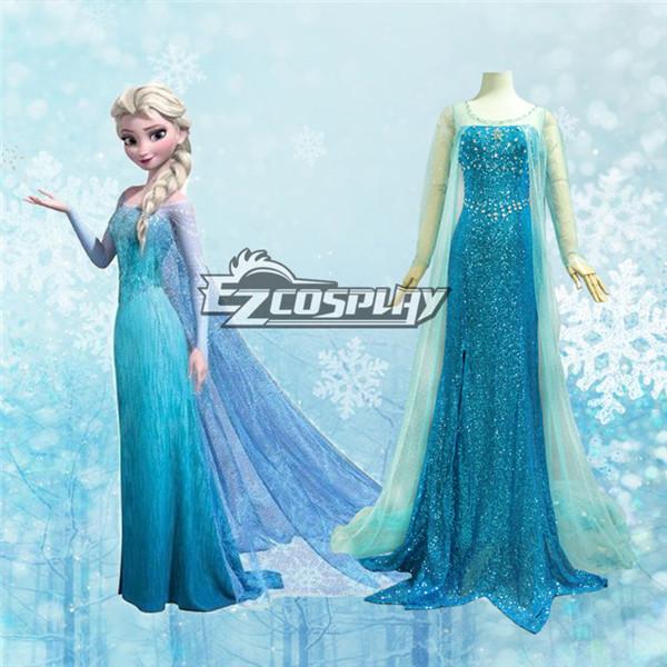 Frozen Elsa Disney Dress Cosplay Costume - Deluxe Ver.