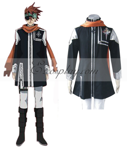 D.Gray-man Lavi Bookman Jr. Ist Uniform Cosplay Costume