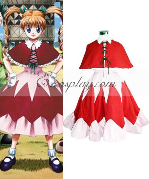 Hunter X Hunter Bisuke Red Dress Cosplay Costume