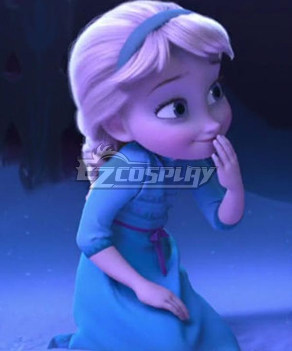 Frozen II Frozen 2 Little Elsa Cosplay Costume