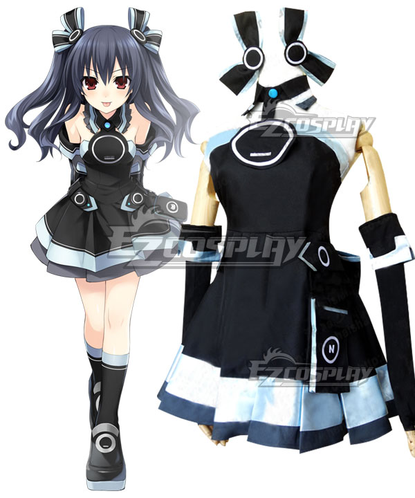 Hyperdimension Neptunia Uni Black Sister Cosplay Costume