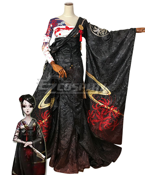 Identity V Geisha Michiko Blood Fan Halloween Cosplay Costume