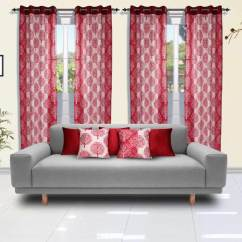 Living Room Covers Sofa Set For Collection Pick Any 1 4 Door Curtains 5 Cushion Buy Online At Best Prices Ezmall Com