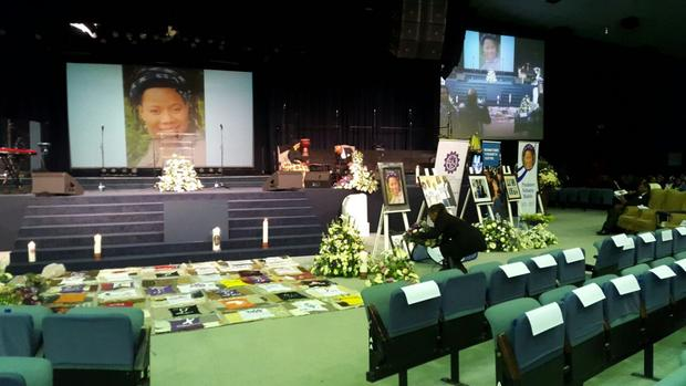 Prudence Mabele's funeral