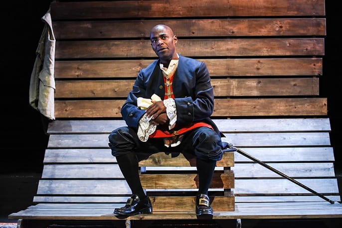 British-born actor Paterson Joseph on stage. Photo credit: Afridiziak Theatre News