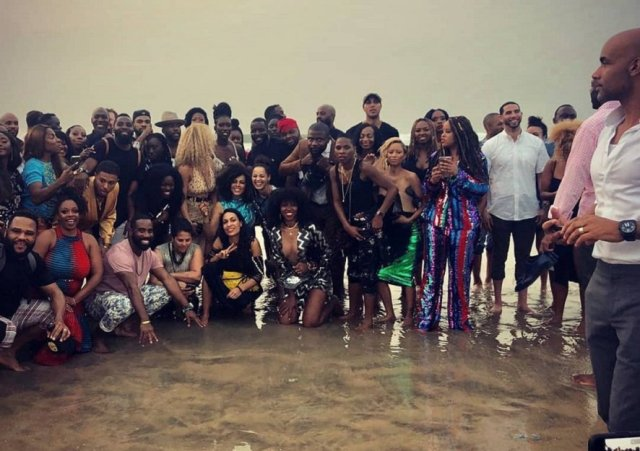 Image result for boris johnson and hollywood stars in ghana