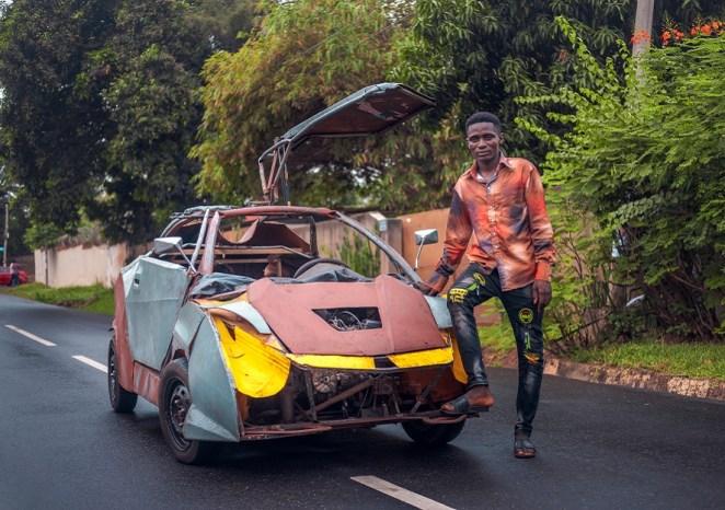 Meet Kelvin Odartei, Ghana's young creative genius who built his own car at 14 - Face2Face Africa