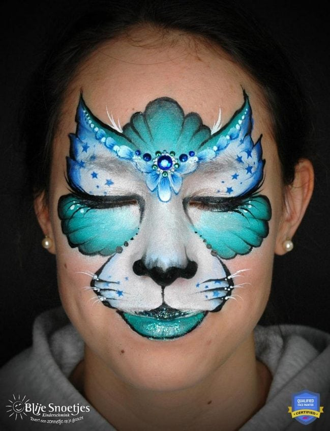 Cat Whiskers Face Paint : whiskers, paint, Creative, Kitty, Step-by-Step, Annabel, Hoogeveen