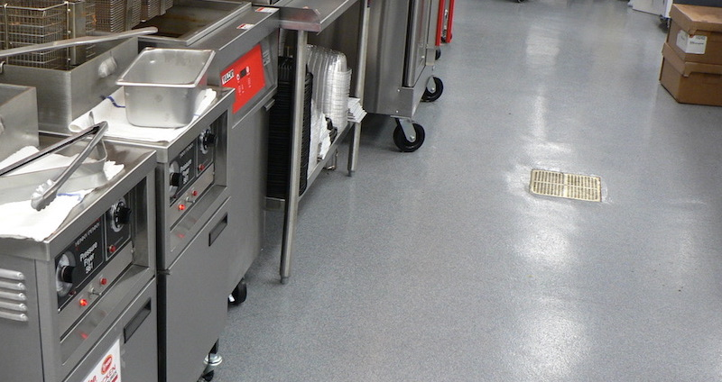 commercial kitchen flooring what to clean grease off cabinets choosing for your facility