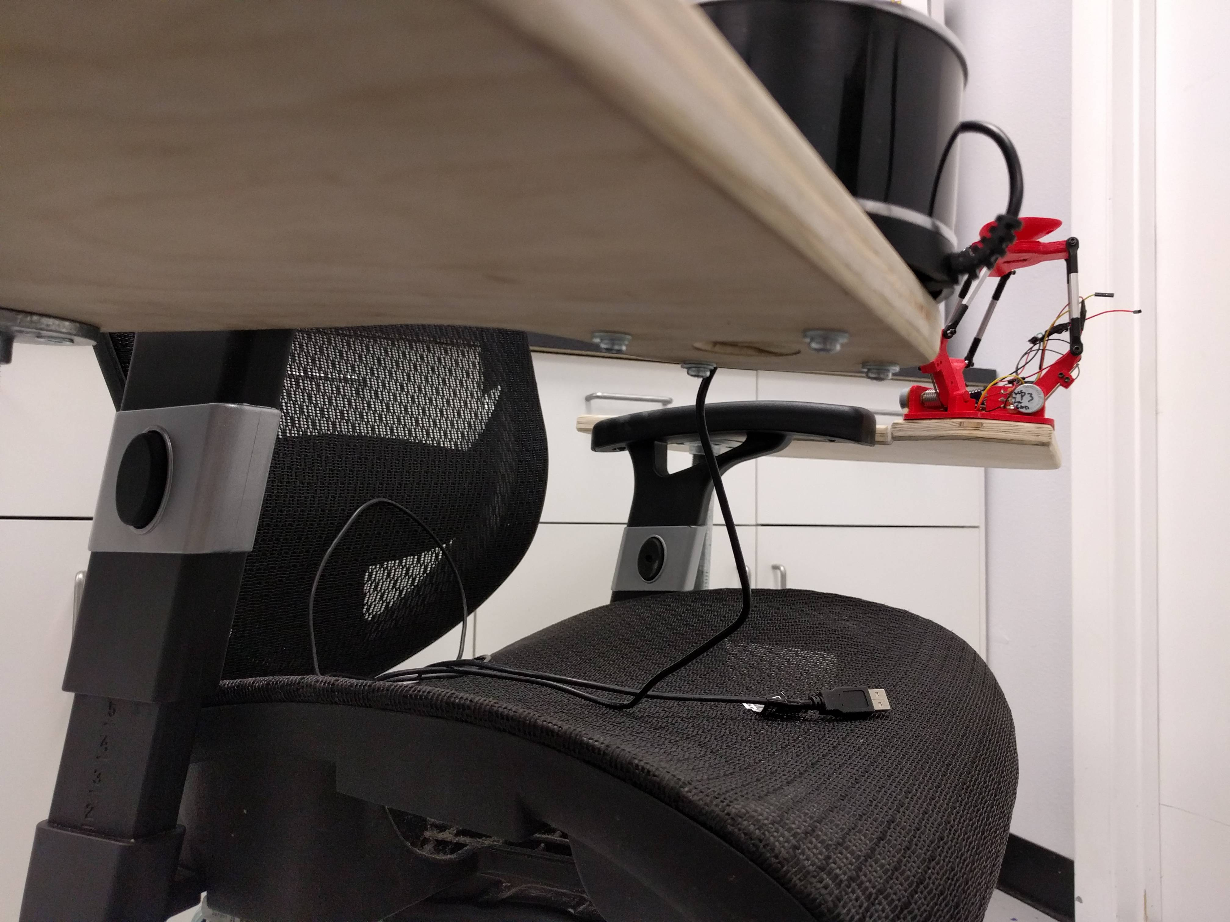 office chair joystick mount ergonomic with leg rest mounted desk and 13 nightmorning 3 bottom from side