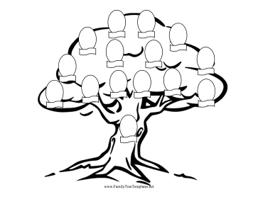 Family Tree Coloring Page Template