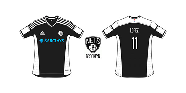 NBA jerseys redesigned as soccer kits (Photos)