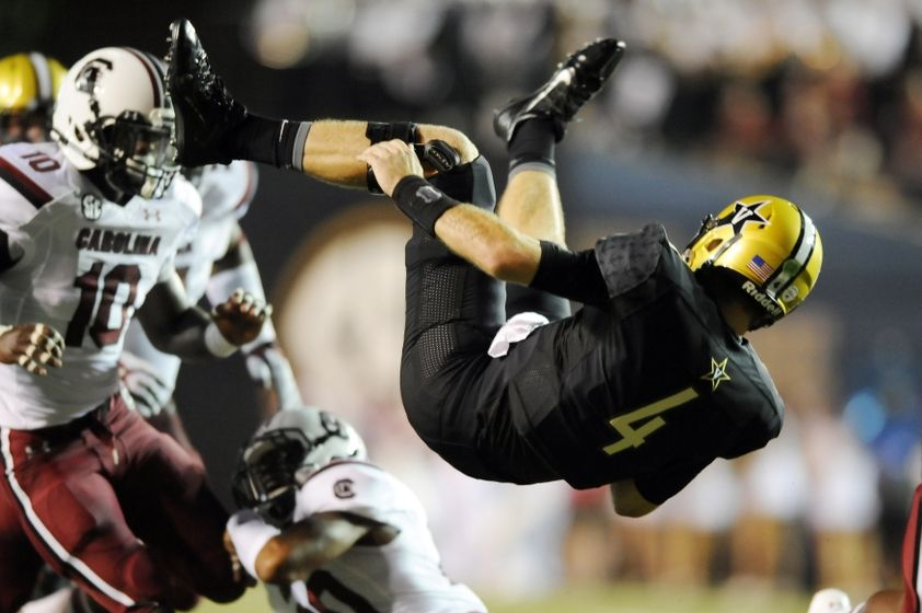 eac1cf90a6e (Source) Vanderbilt's all black home uniforms against South Carolina.  (Source) Commodores ...