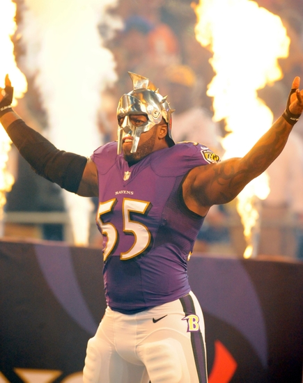 Terrell Suggs Fined For Gladiator Helmet In Week 2