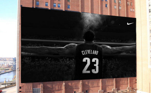 Cleveland Cavaliers Giving Away LeBron James Nike Poster Tonight Photo