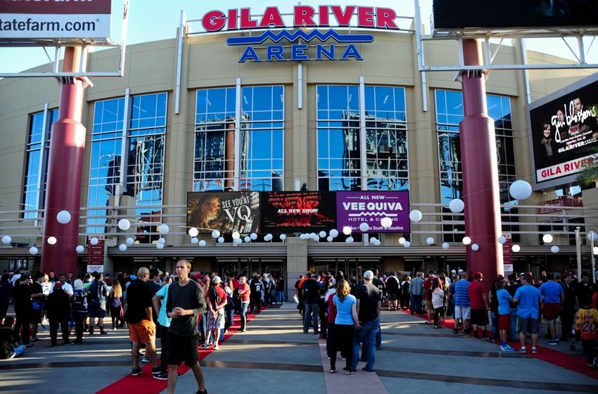 Gila River Arena: the current home of the Coyotes