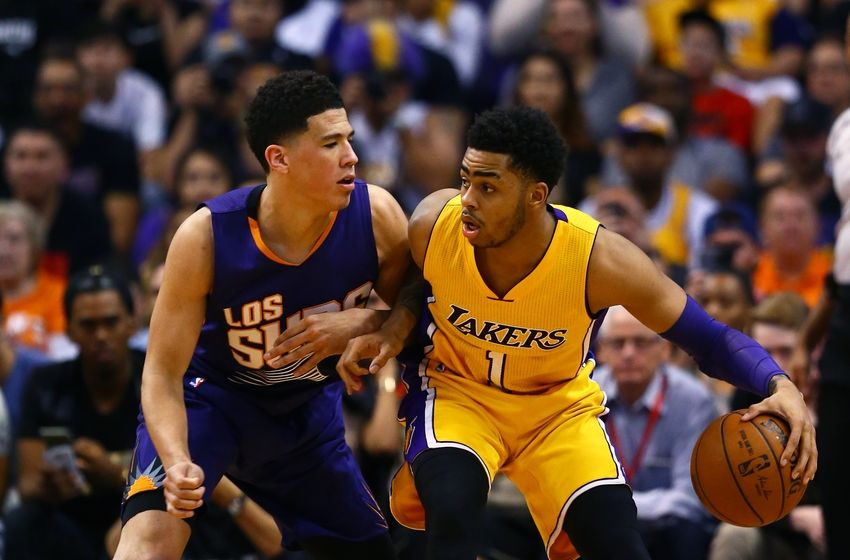Image result for d'angelo russell and devin booker
