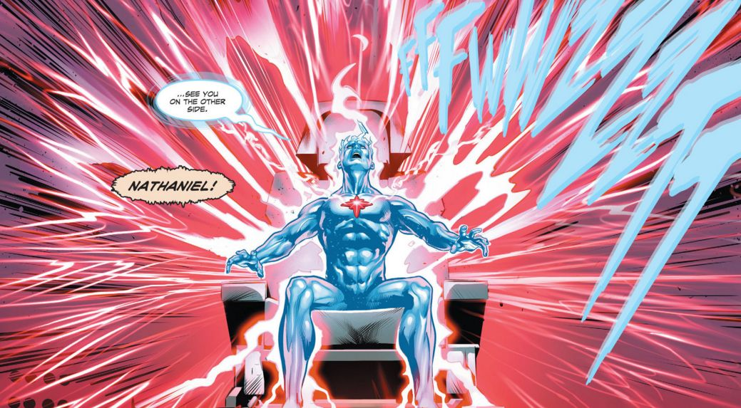 Image result for the fall and rise of captain atom #1