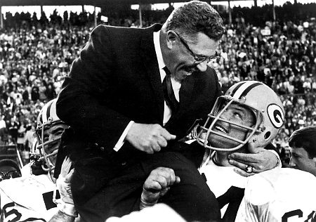 Vince Lombardi and Jerry Kramer
