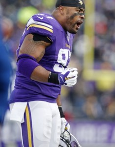 Dec minneapolis mn usa minnesota vikings defensive end everson griffen encourages his teammates as they play the new york jets in third also depth chart analysis defense special teams rh chatsports