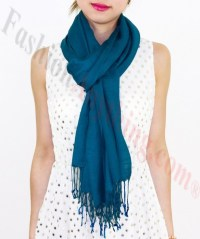 Lightweight Pashmina Wrap Steel Blue