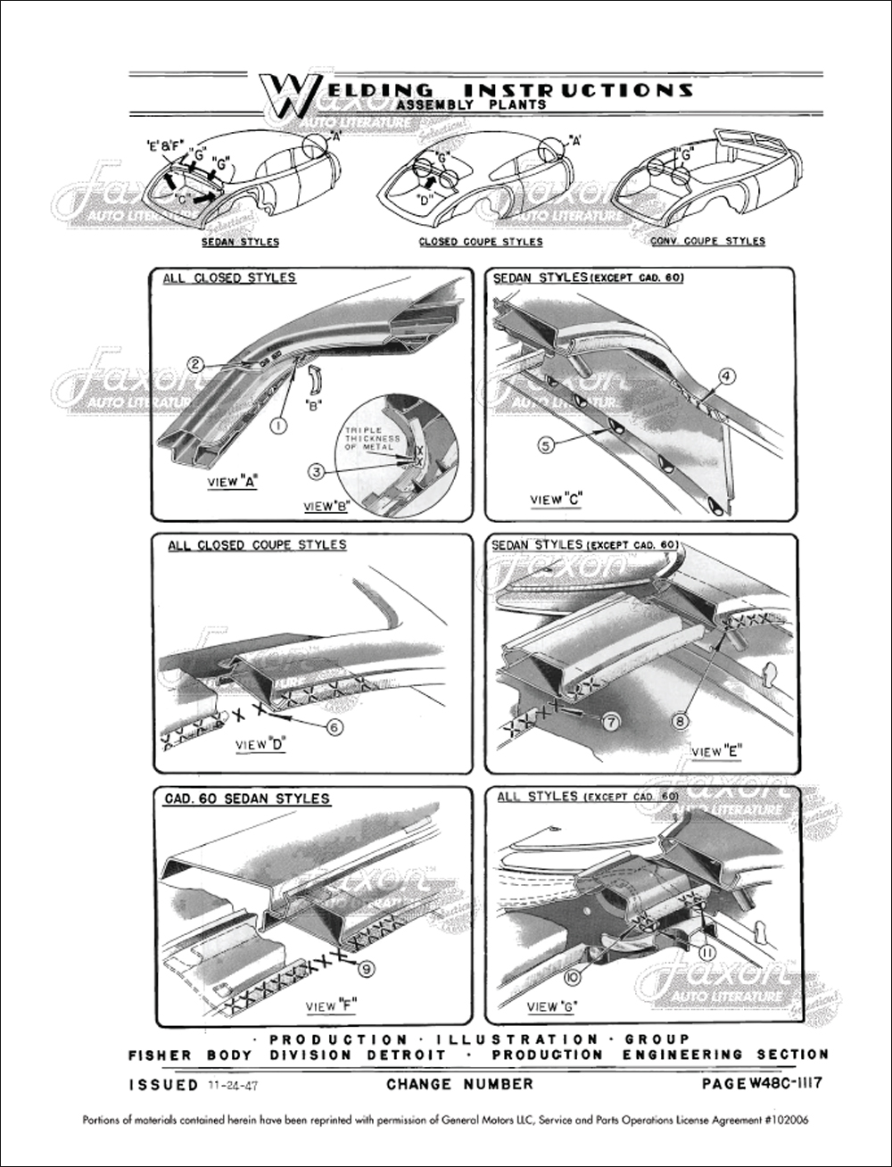 1948-1949 Fisher Body Welding Assembly Service Manual