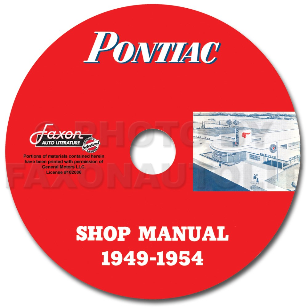 medium resolution of pontiac shop manual cd 1954 1953 1952 1951 1950 1949 repair serviceimage is loading pontiac shop