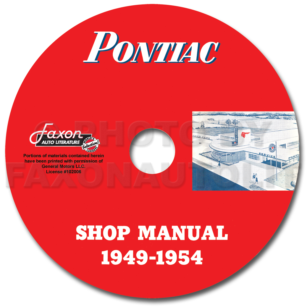 hight resolution of pontiac shop manual cd 1954 1953 1952 1951 1950 1949 repair serviceimage is loading pontiac shop